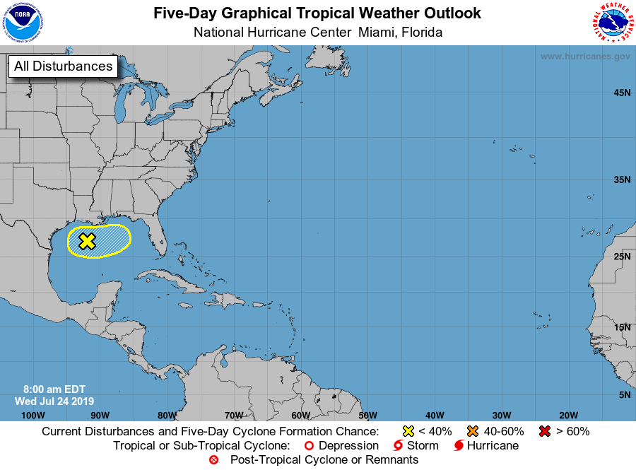 Tropical Disturbance in Northern Gulf of Mexico Bears Watching