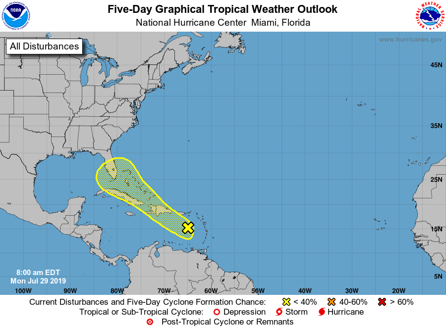 Tropical Disturbance in Caribbean Sea may affect Florida