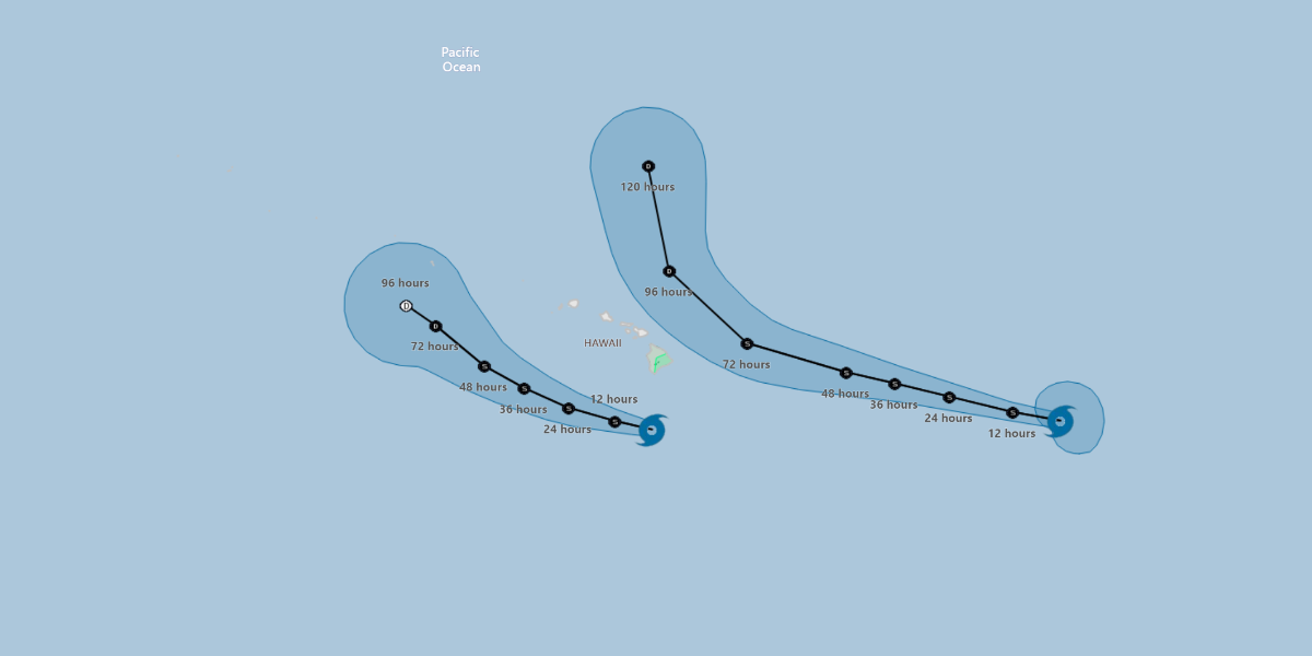 Tropical Storm Erick and then Flossie to Pass Hawaii