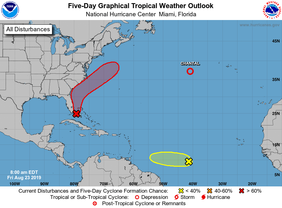 Tropical Disturbance Likely to Form Off East-Central Florida Coast