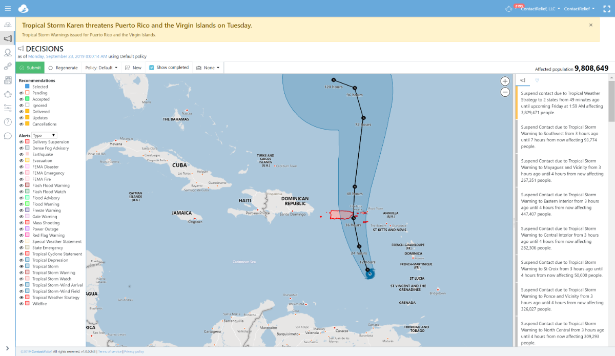 Tropical Storm Karen threatens Puerto Rico and the Virgin Islands