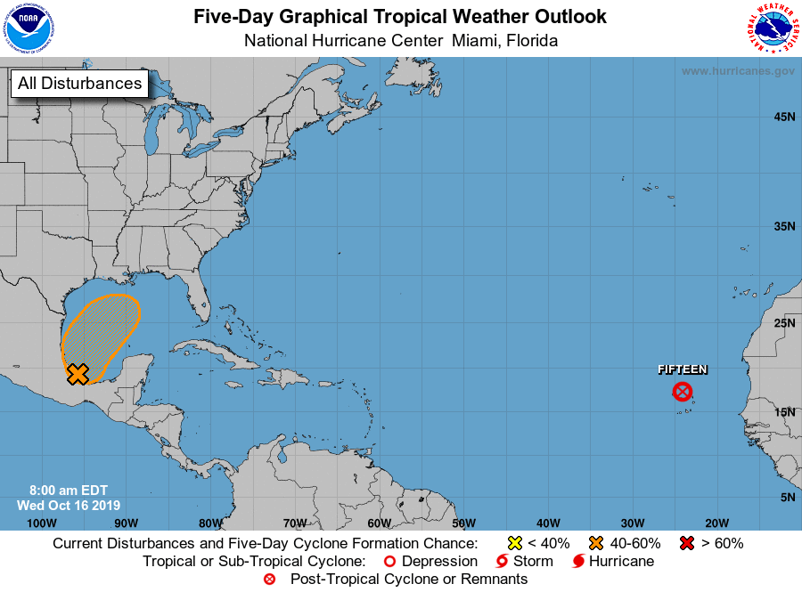 Watching Tropical Disturbance in the Gulf of Mexico