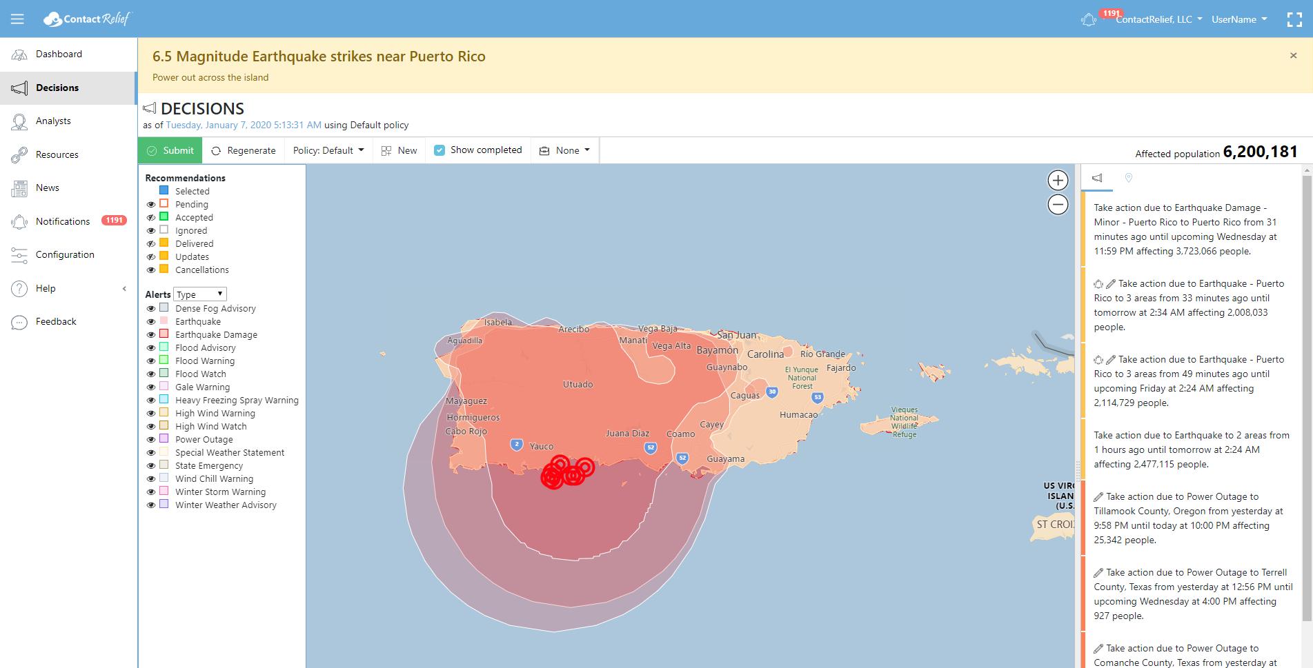 Magnitude 6.5 Earthquake Swarm Strikes Puerto Rico