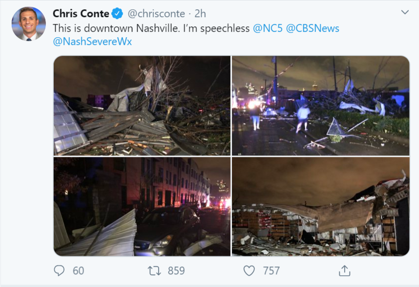 Five People Dead as Multiple Tornadoes Strike Nashville