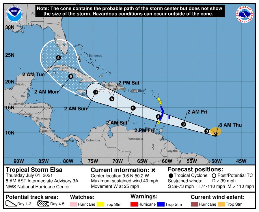Tropical Storm Elsa Threatens South Florida