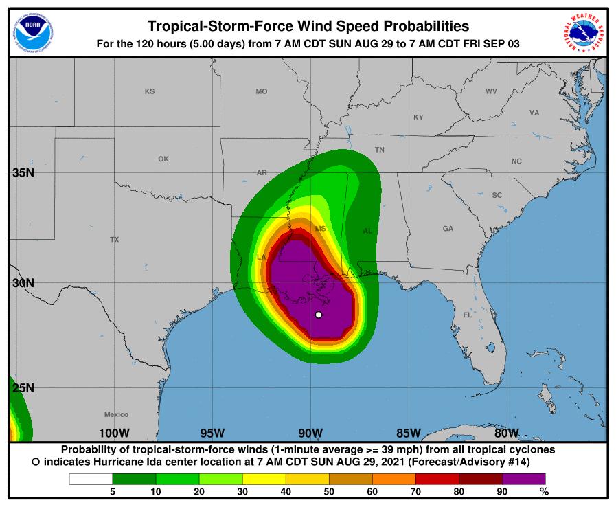 Hurricane Wind Speed probabilities