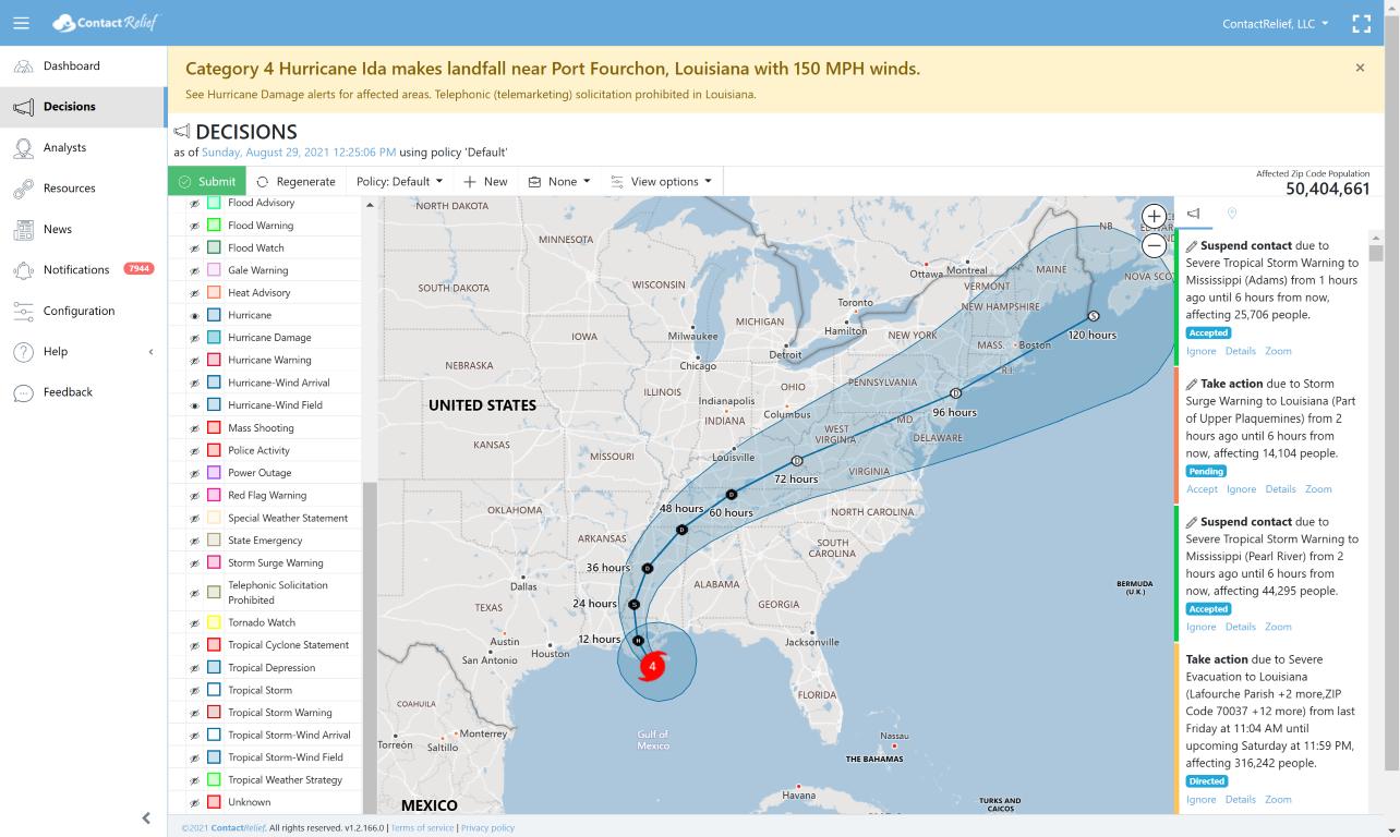 Hurricane Ida makes landfall near Port Fourchon, Louisiana